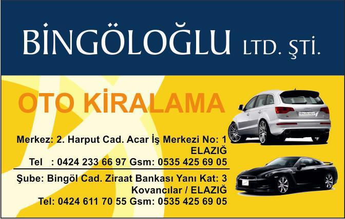 Bingöloğlu Group RENTACAR