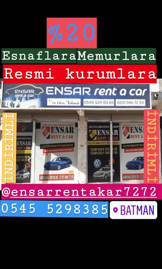 Ensar Rent  A Car Oto Kiralama